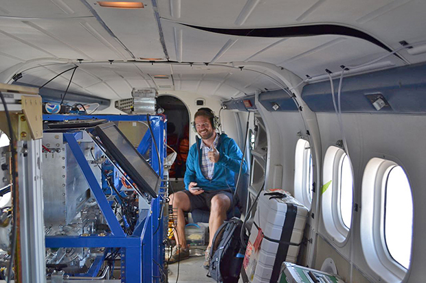 instruments, scientist, experiment, smoke, fire, twin otter