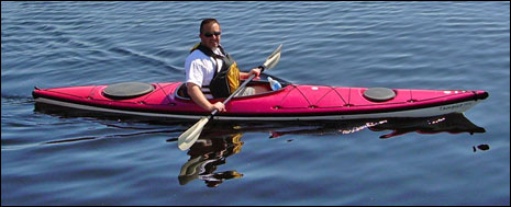 Rick Petersen in kayak