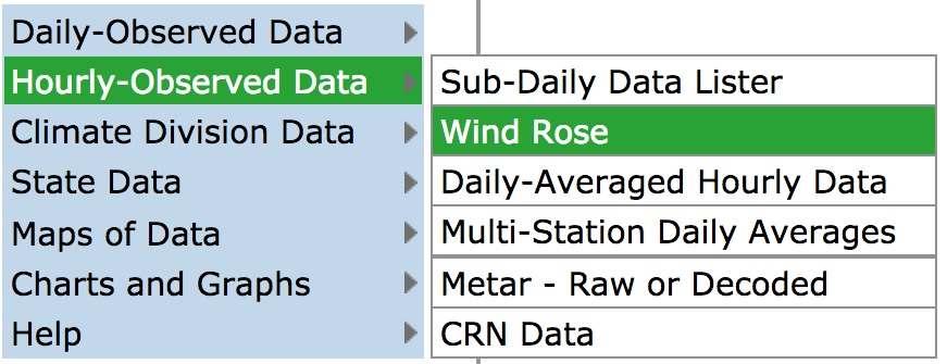 Wind Roses - Charts and Tabular Data | NOAA Climate gov
