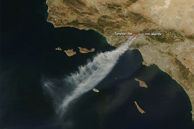 NASA Satelitte Images Wildfires (2008)
