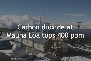 Carbon dioxide tops 400 ppm