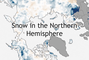 Snow in the Norther Hemisphere