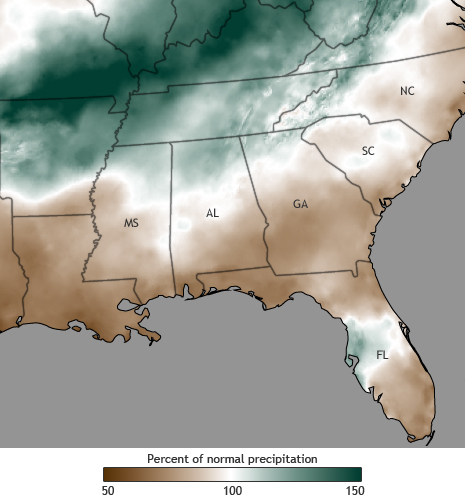 Spring 2011 precipitation below normal