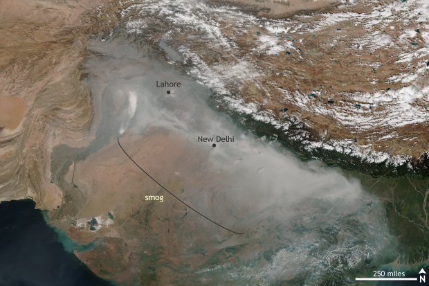 Suomi, Satellite, VIIRS, India, Pakistan, Smog, Pollution
