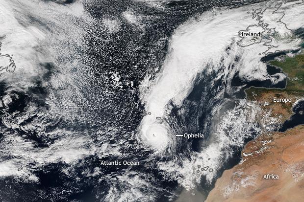 Suomi, Satellite, Hurricane Ophelia