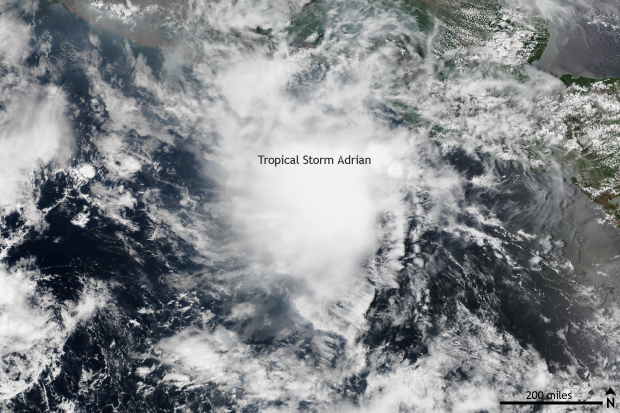 Suomi, VIIRS, Satellite, eastern Pacific, tropical storm