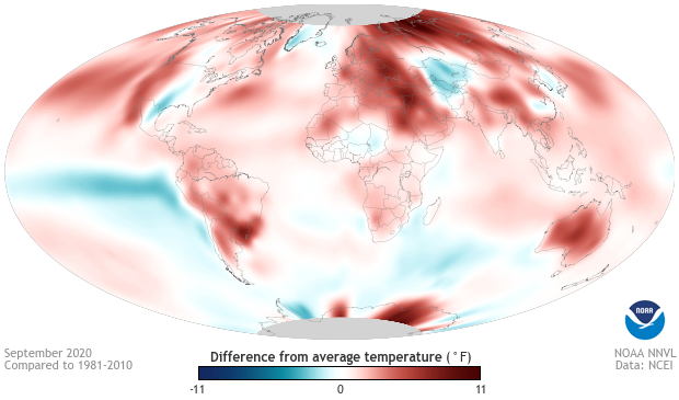 September, temperature anomaly, global, 2020