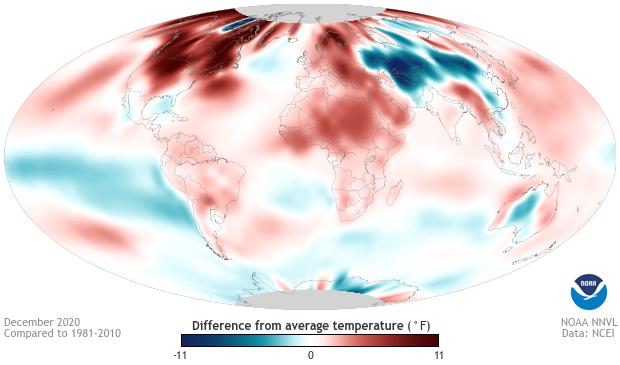 Temperatures, December, global, anomalies