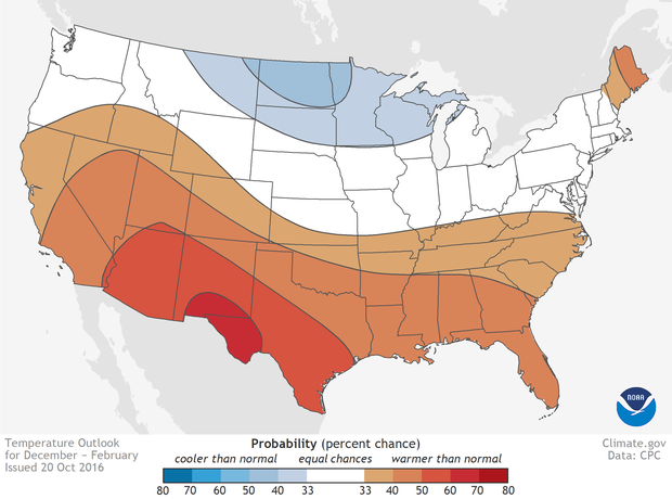 VIDEO US Winter Outlook NOAA Climategov - Average temp map us