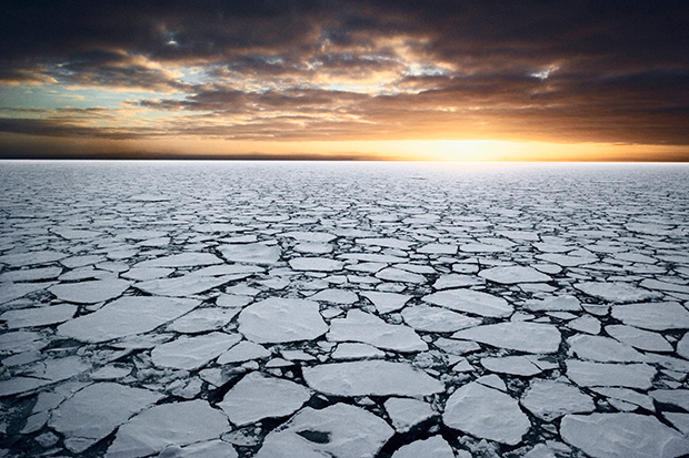 A mosaic of sea ice in the Ross Sea