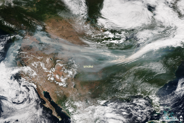 Satellite, VIIRS, wildfire, USA