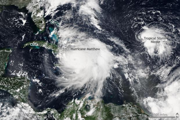 Satellite VIIRS, hurricane, Atlantic