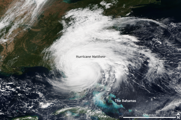 Satellite VIIRS, hurricane, Atlantic, Southeast US