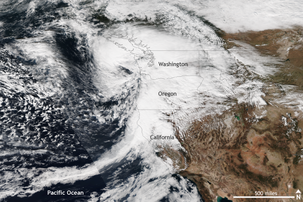 Satellite VIIRS, extratropical cyclone, storm, pacific northwest