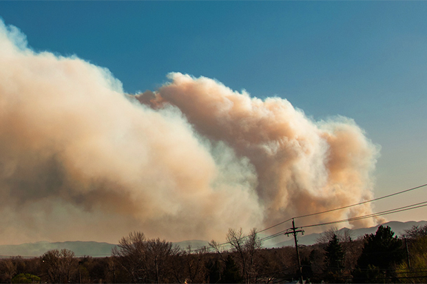 [Photo] Smoke from North Fork fire, 2012.