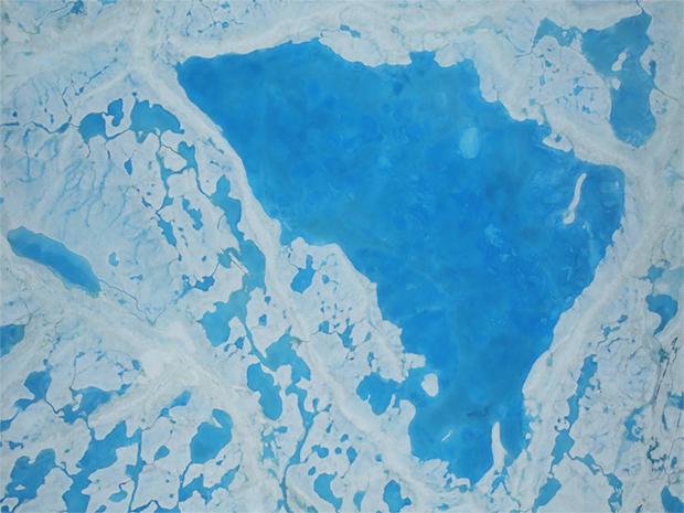 melt ponds, arctic, sea ice
