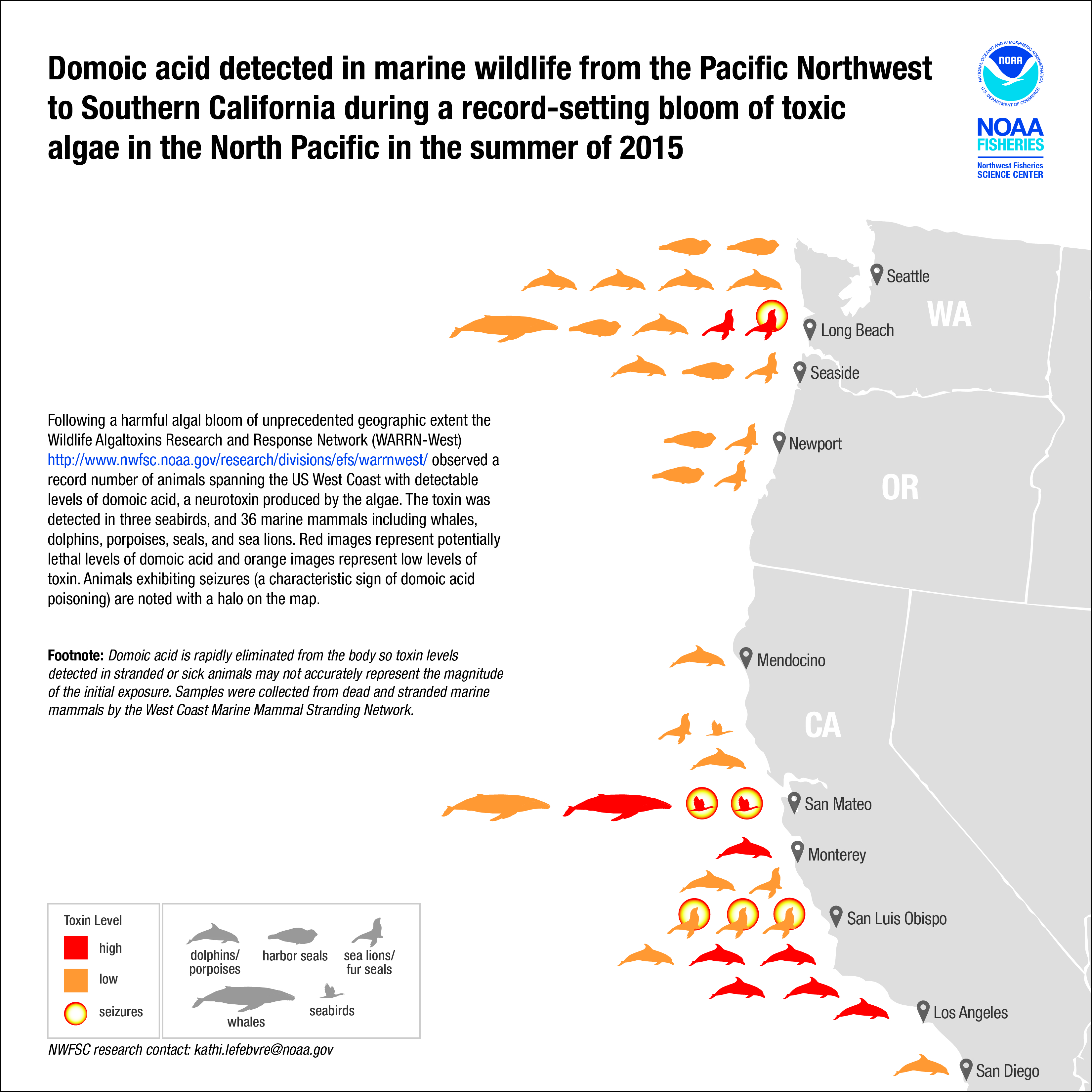 California closes Dungeness and razor clam fisheries due to algal toxin |  NOAA Climate.gov