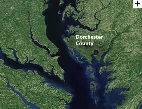 Satellite image of Chesapeake Bay
