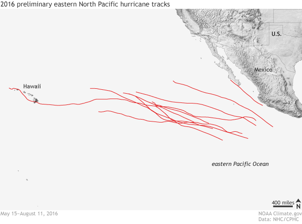 hurricane, tropical storm, eastern North Pacific, Hawaii