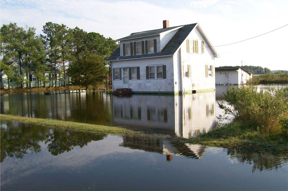 house getting flooded images