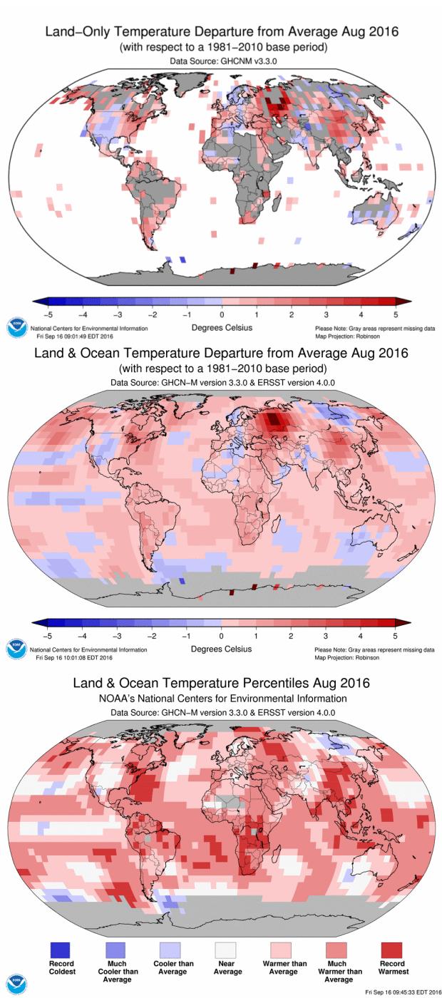 Global Temperatures: August 2016