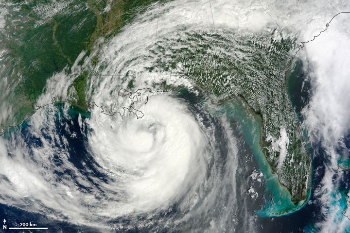 Satellite image of Hurricane Isaac