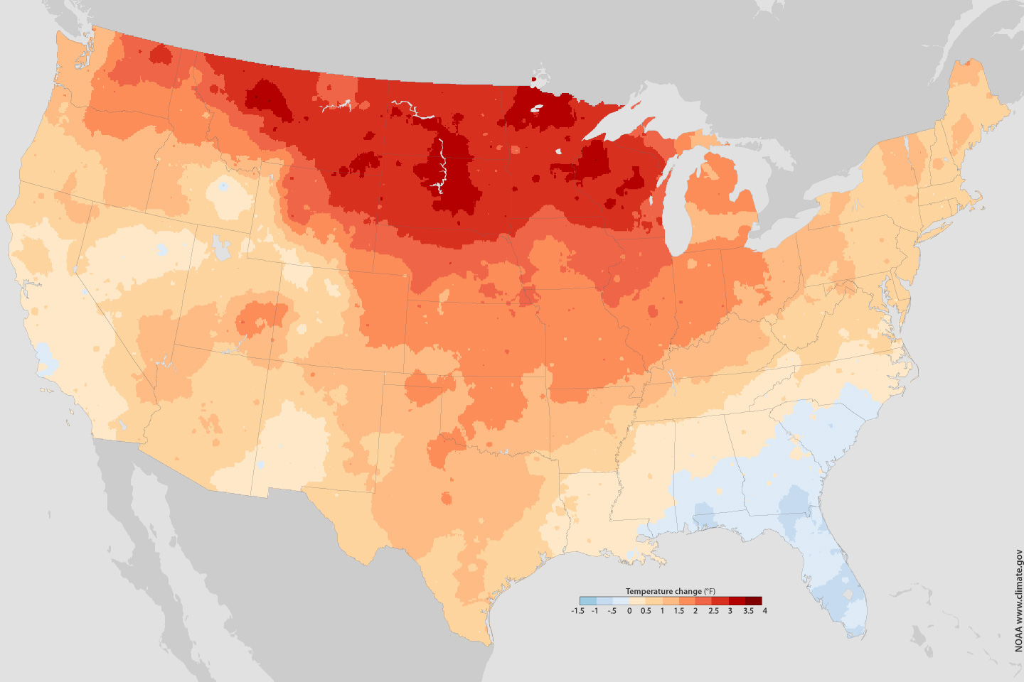 The New Climate Normals Gardeners Expect Warmer Nights NOAA - Map us average high low temperature map