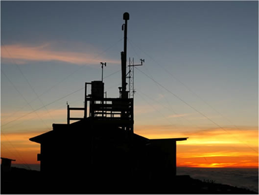 Photo of Mauna Loa Observatory at sunset