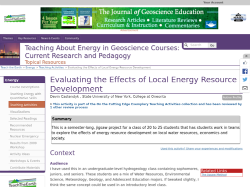 Evaluating the Effects of Local Energy Resource Development