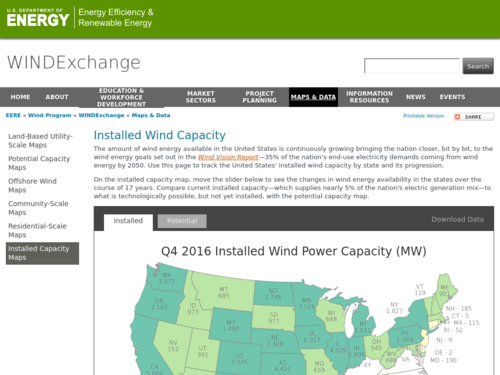 Animated Wind Capacity Map Noaa Climate Gov