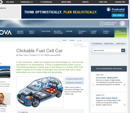 Clickable Fuel Cell Car | NOAA Climate gov
