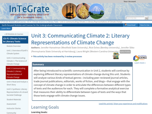 how to teach climate change teaching resources