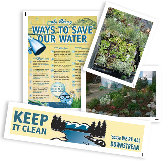 Montage of ways to save water
